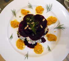 Raw Beetroot lasagne